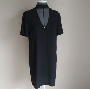 New ZARA Black Chocker Shift Dress